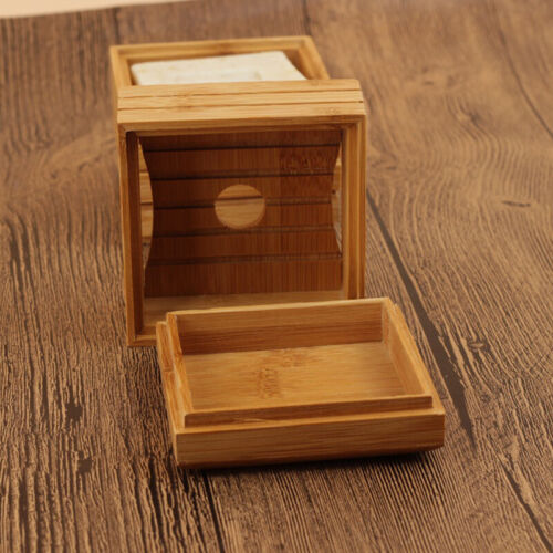 Natural Simple Soap Dish Soap Box Bamboo Rack Container Tray Holder Wooden Box