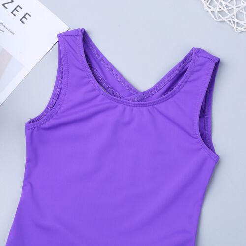 Girls Ballet Dance Clothes Gymnastics Jumpsuit Leotard Bodysuit Kids Dancewear