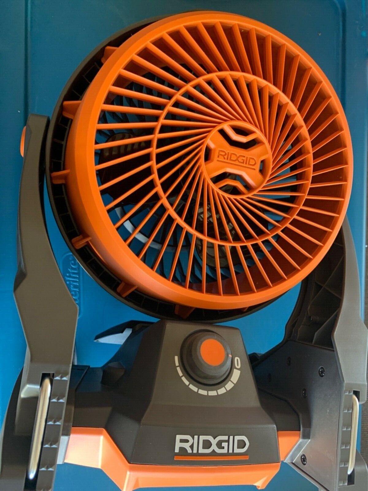 18-Volt Hybrid Fan New RIDGID R860720B Tool Only
