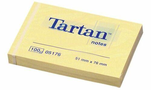 12x 3M Tartan Notes Haftnotizen hellgelb 102 x 76mm Block Notizblatt Notizzettel