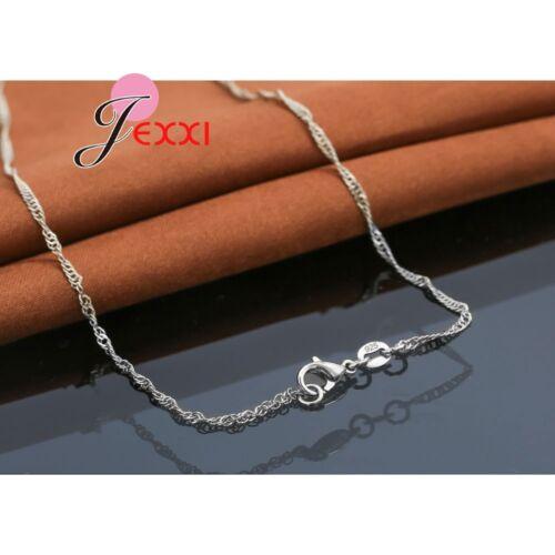 Plata esterlina 925 Claro Cz Cristal Colgante Collar y pendiente conjunto vendedor del Reino Unido