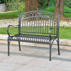 Enjoyable Details About Segovia Iron 2 Seater Garden Bench Onthecornerstone Fun Painted Chair Ideas Images Onthecornerstoneorg