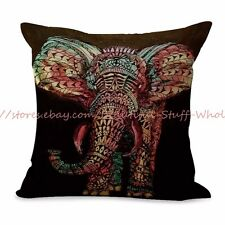 US SELLER-bedding pillows decorative lucky elephant animal cushion cover
