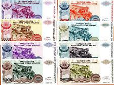 SET, Croatia, 5000 to 500,000,000 Dinara, 1993, R20-R26, 8 banknotes, UNC > Knin