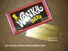 Willy Wonka Chocolate Bar Golden Ticket Replica For Sale