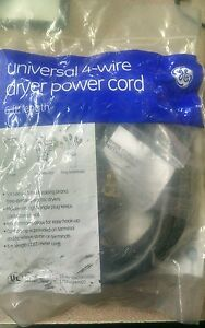 NEW-GE-Universal-WX09X10020-4-Prong-Wire-30-amp-Dryer-Power-Cord-6-Feet