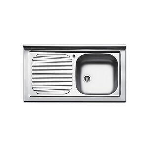 Lavello appoggio acciaio inox cucina lavandino da 90 cm - Lavandino cucina una vasca ...