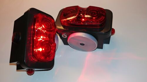 """Pair of Towaide TA55 Wireless Tow Lights 5.5/"""" magnetic tow truck wrecker S//T//T"""