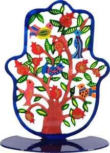 Yair-Emanuel-Stand-Hamsa-with-Colorful-Birds-Kabbalah-Home-Protection