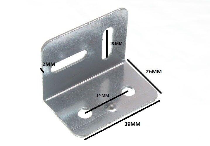 38mm Quadrato Piastra Tenditrice Staffa Angolare 2 Fori 2 da   Confezione Ofs 50