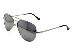 Silver-Mirror-Aviator-Sunglasses-amp-Cloth-Case-Uv400-Designer-Mens-Ladies-Shades