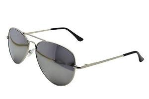 SILVER-MIRROR-AVIATOR-SUNGLASSES-CLOTH-CASE-UV400-DESIGNER-MENS-LADIES-SHADES