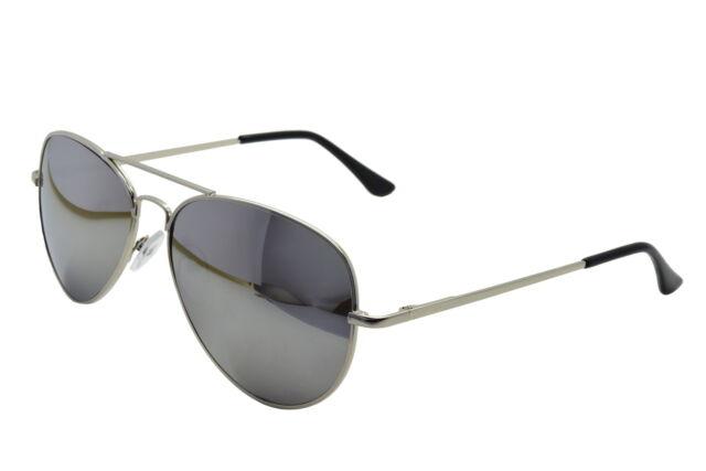 Silver Mirror Aviator Sunglasses & Cloth Case Uv400 Designer Mens Ladies Shades