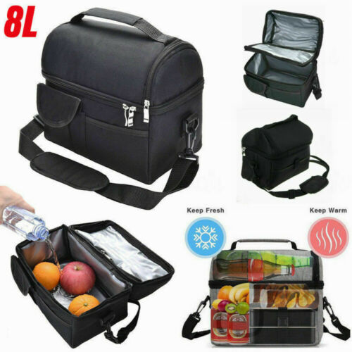 Adults Kids Thermal Insulated Lunch Bag Cool Bag Picnic Work Lunch Box Handbag