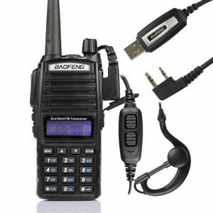 US-Baofeng-UV-82L-2m-70cm-VHFUHF-MHz-Ham-Two-way-Radio-Walkie-Talkie-Cable-amp-CD