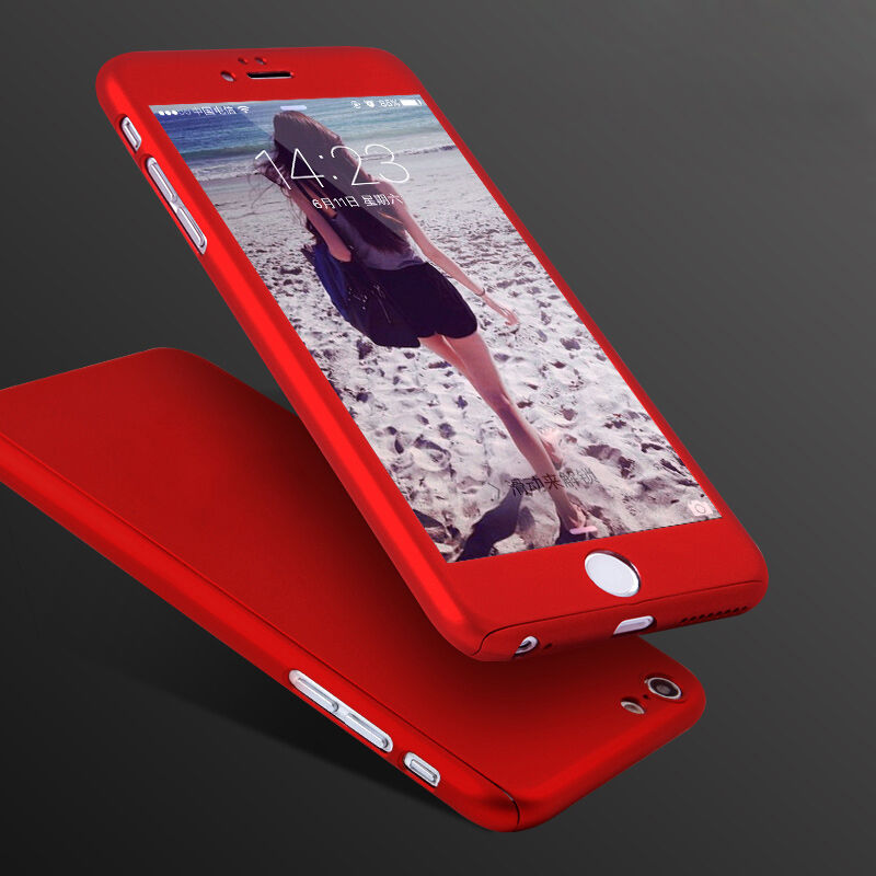 coque housse etui case cover integral 360 iphone 7 6s plus vitre verre trempe ebay. Black Bedroom Furniture Sets. Home Design Ideas