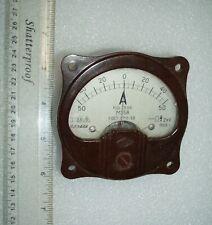 Analog Panel Meter Dc 50 0 50 A Ampermeter M358 Dc Ammeter Dated 1959
