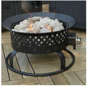 Patio Fire Pit Outdoor Gas Fireplace Portable Campfire Camp Propane Heater Cover Ebay