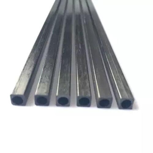 2-10mm Longueur 100-500mm Carbone Fibre Tubes Carrés Trou Rond Rod Pole