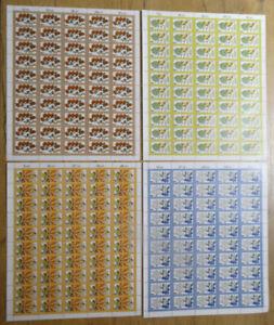 Bund-1024-1027-postfrisch-LUXUS-Bogen-Satz-BRD-1979-Michel-225-00-sheets-MNH