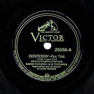 LIONEL HAMPTON on 1937 Victor 25658- Confessin' / Drum Stomp