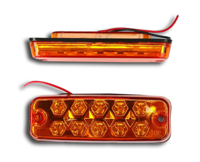 10 X 24V LED Rot Seite Marker Lichter Lkw Anhänger Bus Van Fahrwerk Wohnwagen