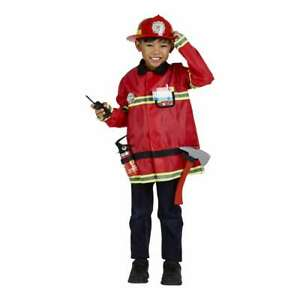 NEW Spartys Fire Fighter Kids Costume By Spotlight