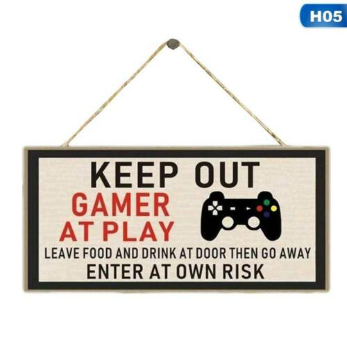 Game Room Gamer Gaming Bedroom Door Sign Novelty Christmas Gift Brother Son HOT