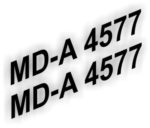 2x Boots Aufkleber Bootskennzeichen Nummer Kennzeichen FOIL0007