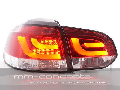 VW Golf 6 VI Led Rückleuchten R R20 GTI GTD rot Klar Lightbar