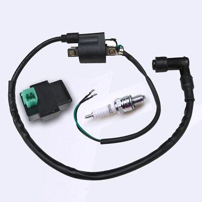 12V Ignition Coil 5 pin CDI Spark Plug set for ATV Quad 50cc 70 90 110  125cc Pit 7101454679897 | eBay