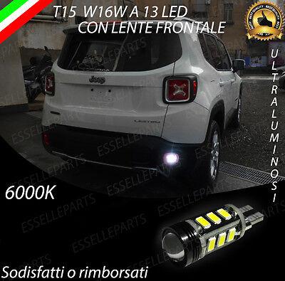 Lampada Retromarcia 13 Led T15 W16w Canbus Per Jeep Renegade 6000k
