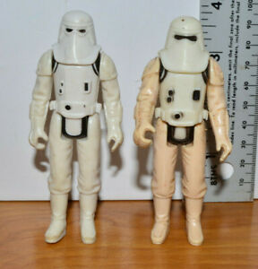 Vintage-STAR-WARS-SNOWTROOPERS-Action-Figure-Lot-Sculpts-1-amp-2-Hong-Kong-1980