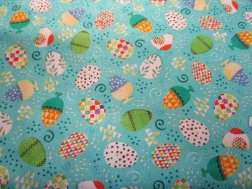 HAPPY EASTER EASTER EGG /& BUNNY MATERIAL  100/% COTTON PATCHWORK QUILT FABRIC