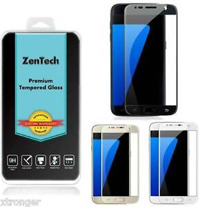 ZenTech Tempered Glass [FULL COVER] Screen Protector Guard For Samsung Galaxy S7