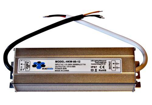 80 W-Alimentation Transformateur de commutation Alimentation DEL 230 V//12 V Out Transformateur