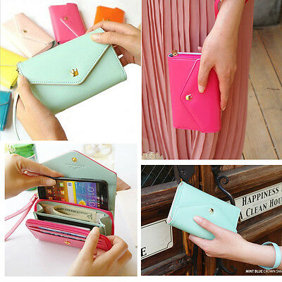 Fashion Multifunctional Envelope Wallet Phone Case for iPhone 5 4s Galaxy S2 S3