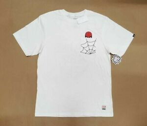 Details about VANS X MARVEL SPIDERMAN POCKET WHITE SHORT SLEEVE TEE  VN0A3HUWWHT BOYS SZ LARGE