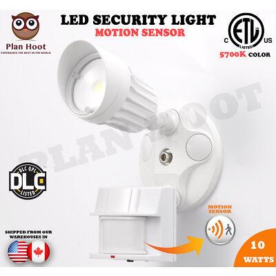 10W ETL DLC LED Motion Sensor Security Outdoor Light Wall Garage Commercial Use