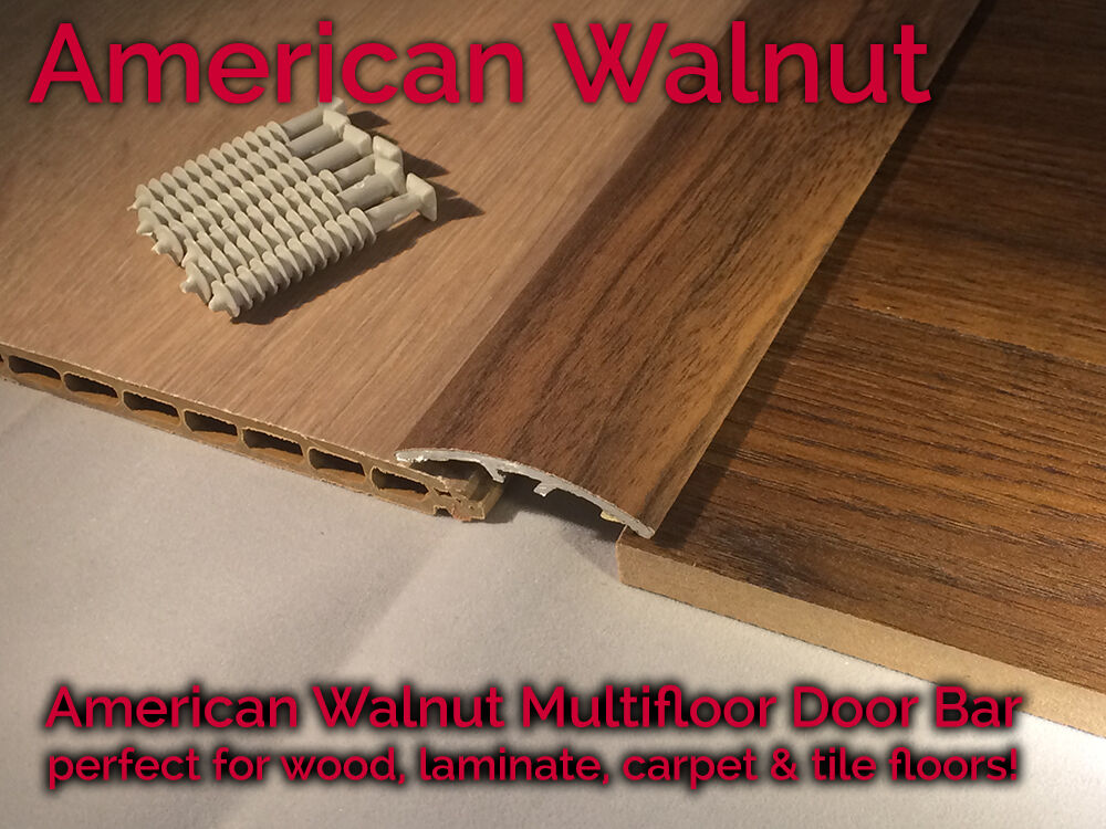 Dural Multifloor Door Bar Threshold Strip Laminate Floor 0.9m AMERICAN WALNUT