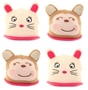 ac0063d66dc Image is loading Babies-Novelty-Animals-Fleece-Insulated-Beanie-Winter-Warm-