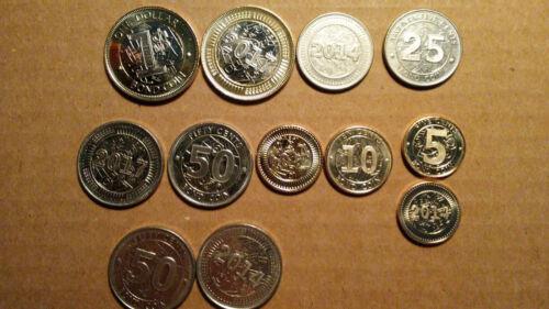 $0.05 TO $1 5 PIECE BOND COIN SET ZIMBABWE