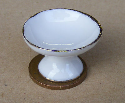 1:12 White Ceramic Raised Deep Bowl Dolls House Miniature Kitchen Accessory R7