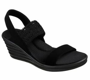 SKECHERS-Cali-Rumblers-Wave-Drama-Diva-Wedge-Sandals-Women-039-s-Memory-Foam-31596