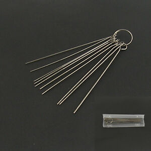 cleaning needle kit for airbrush paint spray guns nozzle tattoo equipment 10 pcs ebay. Black Bedroom Furniture Sets. Home Design Ideas