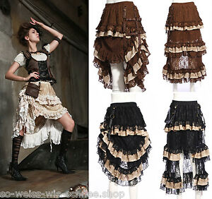 rq bl rock steampunk gothic vintage skirt pocket raffbar r schen tasche sp167 ebay. Black Bedroom Furniture Sets. Home Design Ideas