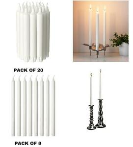 Ikea jubla unscented chandelier dinner candles white in pack of image is loading ikea jubla unscented chandelier dinner candles white in aloadofball Images