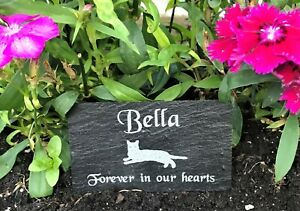 Personalised-Engraved-Slate-Pet-Memorial-Grave-Marker-Plaque-Dog-Cat