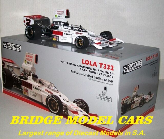 1975 Lola T332 F5000 Warwick Brown Oran Park 1st place 1:18 Classic Carlectables