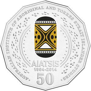 2014-Australia-50th-Anniversary-of-AIATSIS-50c-Coloured-Unc-Coin
